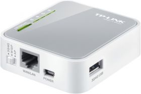 TP-LINK TL-MR3020 Single-band (2.4 GHz) Fast Ethernet 3G 4G Grijs, Wit draadloze router
